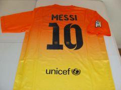 #10 LIONEL MESSI FC Barcelona La Liga Forward Orange/Yellow Mint Throwback Uniform Kit