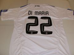#22 ANGEL DI MARIA Real Madrid CF La Liga Winger/MF White Mint Throwback Jersey