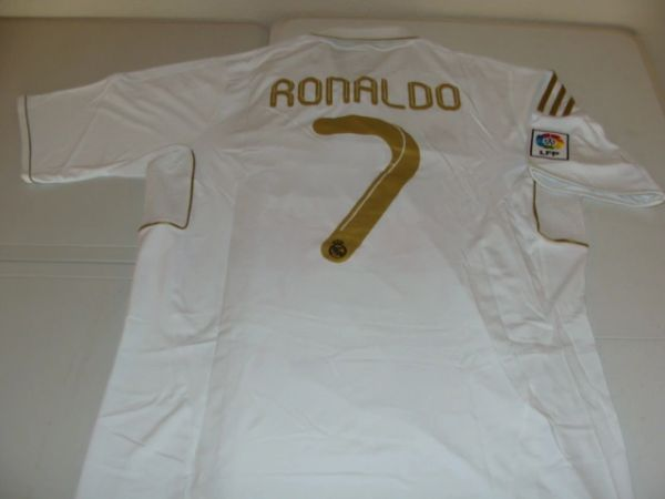 #7 CRISTIANO RONALDO Real Madrid CF La Liga Forward White Mint Throwback Jersey