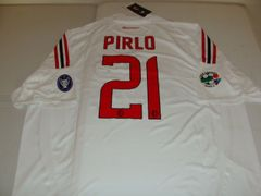 "#21 ANDREA PIRLO AC Milan Serie A MF White ""Champions League"" Mint Throwback Jersey"