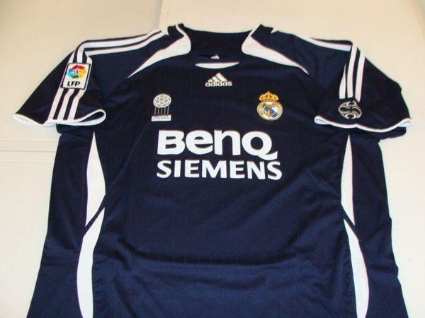 "REAL MADRID CF La Liga FIFA ""Club of the 20th Century"" Black Mint Throwback Team Jersey"