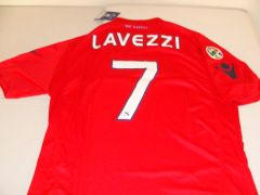 #7 EZEQUIEL LAVEZZI SSC Napoli Serie A Forward/Winger Red Mint Throwback Jersey