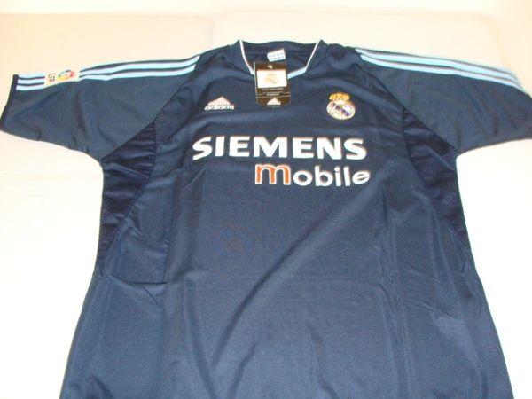 REAL MADRID CF La Liga 2002-05 Black Mint Throwback Team Jersey
