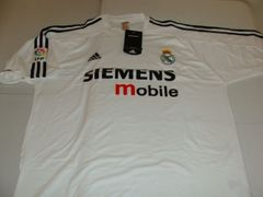REAL MADRID CF La Liga 2002-05 White Mint Throwback Team Jersey