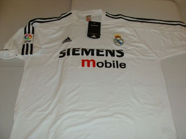 REAL MADRID CF La Liga 2002-05 White Mint Throwback Team Jersey