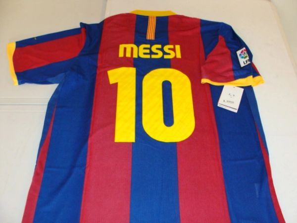 new concept 79da1 42ea7 #10 LIONEL MESSI FC Barcelona La Liga Forward Red/Blue Mint Throwback Jersey