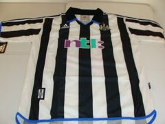 NEWCASTLE UNITED FC EPL 2000-03 Black/White Mint Throwback Team Jersey