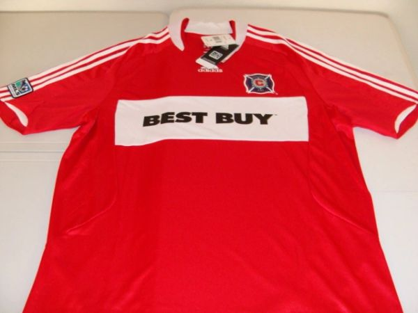 CHICAGO Fire MLS 2008-10 Red Mint Throwback Team Jersey