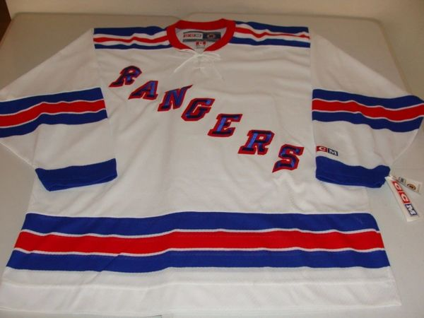 NEW YORK Rangers NHL White Throwback Team Jersey
