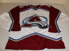 COLORADO Avalanche NHL White Throwback Team Jersey