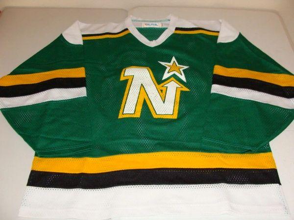#45 MINNESOTA North Stars NHL Green Throwback Team Jersey