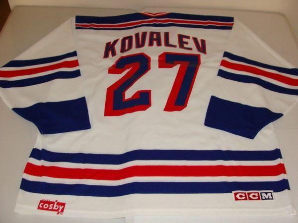 #27 ALEXEI KOVALEV New York Rangers NHL RW White Throwback Jersey
