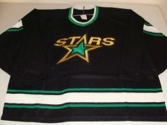 DALLAS Stars NHL Black Throwback Team Jersey