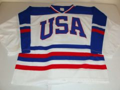 #24 Team USA International Hockey White Throwback Jersey