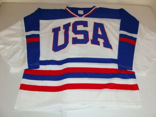 #24 Team USA International Hockey White Throwback Jersey