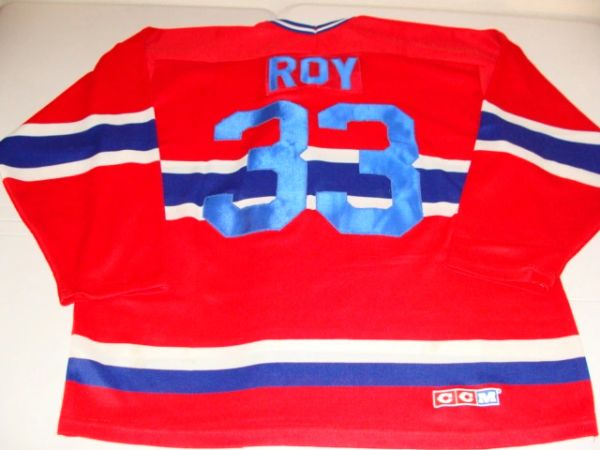 #33 PATRICK ROY Montreal Canadiens NHL Goalie Red Throwback Jersey