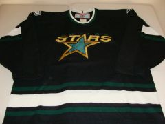DALLAS Stars NHL Black Throwback Team Jersey w/Shoulder Patches