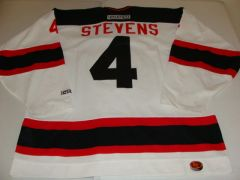 #4 SCOTT STEVENS New Jersey Devils NHL Defenseman White Throwback Jersey