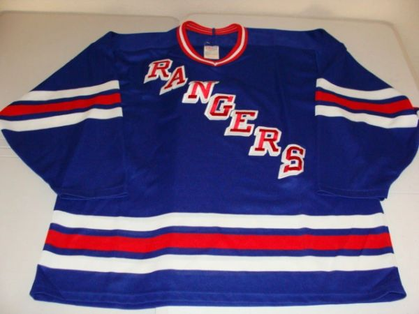 NEW YORK Rangers NHL Blue Throwback Team Jersey