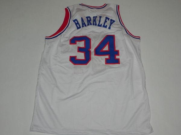#34 CHARLES BARKLEY Philadelphia 76ers NBA PF White Throwback Jersey