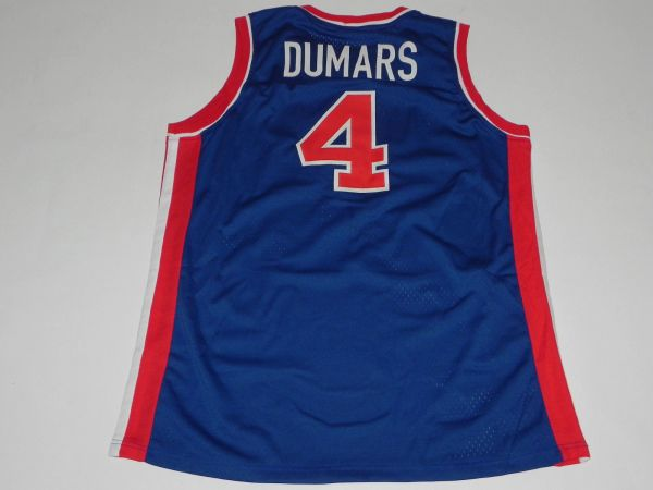 #4 JOE DUMARS Detroit Pistons NBA Guard Blue Throwback Jersey