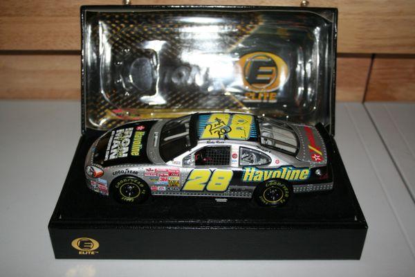 "2002 Elite 1/24 #28 Texaco Havoline ""Ironman"" Ford Taurus Ricky Rudd CWC AUTOGRAPHED"