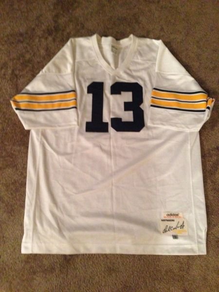 new product 6e5c7 79d15 #13 DAN MARINO Pittsburgh Panthers NCAA QB White Throwback Jersey