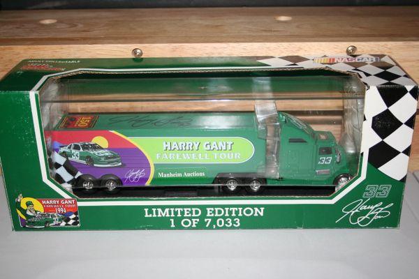 1994 RC Premier 1/64 #33 Harry Gant Farewell Tour Diecast Transporter AUTOGRAPHED