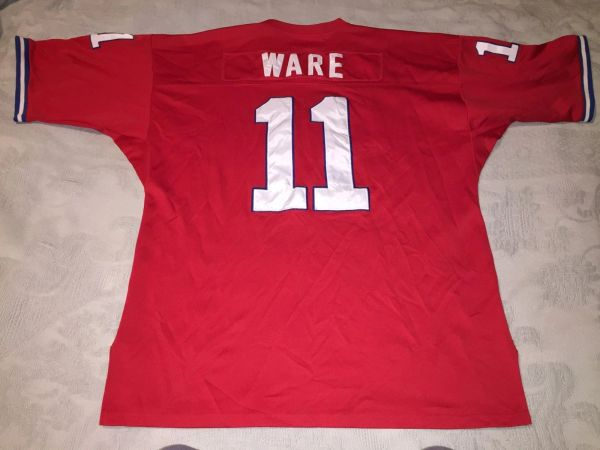#11 ANDRE WARE Houston Cougars NCAA QB Red Throwback Jersey