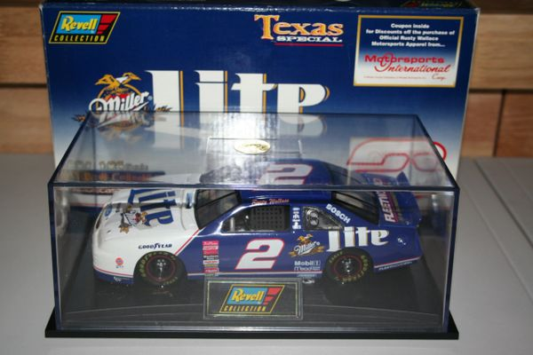 1997 Revell 1/24 #2 Miller Lite TEXAS Race Ford Thunderbird Rusty Wallace CWC
