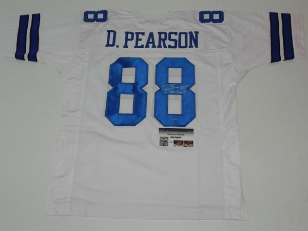 #88 DREW PEARSON Dallas Cowboys NFL WR White Throwback Jersey AUTOGRAPHED