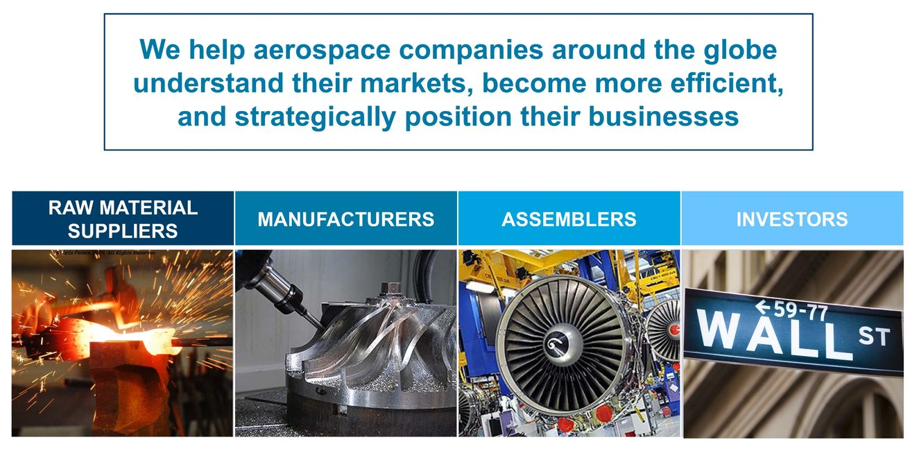 aerospace, strategy, market study, supply chain, raw materials, manufacturing, assembly, investor
