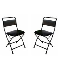 Mbtc Windsor Low Back Cushion Folding Chair ( Set of 2 )