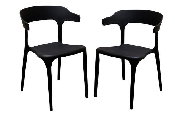 MBTC Kyro Cafeteria Chair (Black) (Set of 2 Pcs)