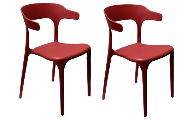 MBTC Kyro Cafeteria Chair (Red) (Set of 2 Pcs)