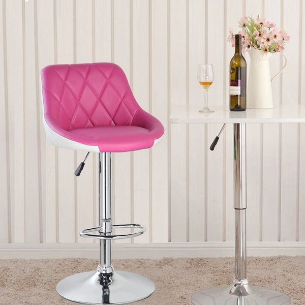 MBTC Kerland Bar, Kitchen, Cafeteria Stool in Pink & White