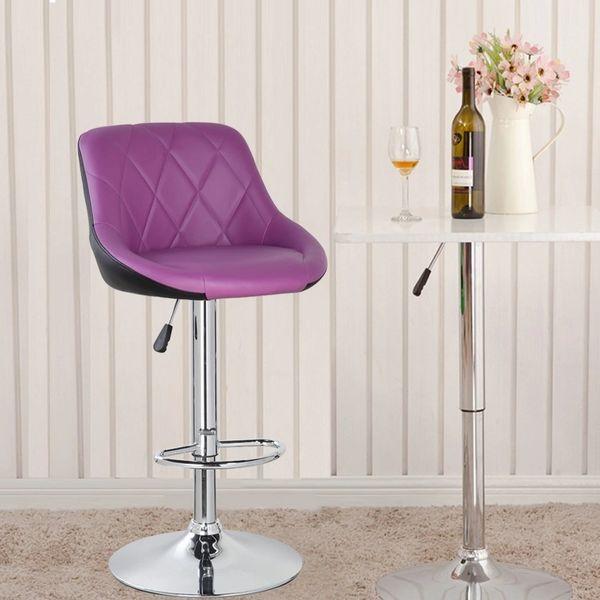 MBTC Kerland Bar, Kitchen, Cafeteria Stool in Purple & Black