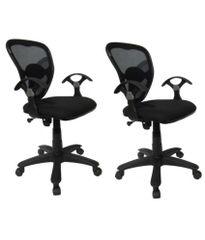 MBTC Mesh Net Medium Back Office Chair ( set of 2 )