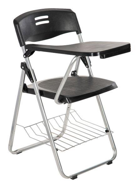 MBTC Erizo Folding Student Writing Pad Chair in Black