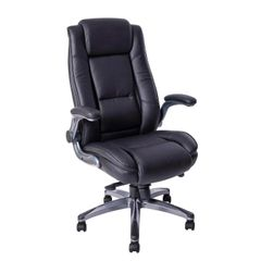 MBTC Reloque Office Executive Director Desk Chair with Flip Handle in Black