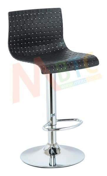 MBTC Meshot Cafeteria Restaurant Office Bar Stool Chair in Black