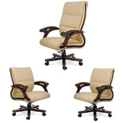 MBTC High end 1 Boss Chair & Two Executive Chairs ( Set of 3 )