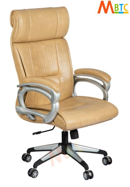 MBTC Prestine High Back Revolving Office Chair in Light Beige