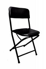 Folding Cushion Chair In Black