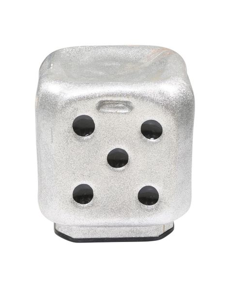 Dice stool In metallic Silver ( set of 4 )