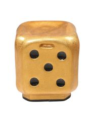 Dice Stool in Metallic Golden ( Set of 4 )