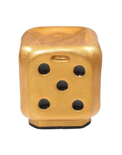 Dice Stool in Metallic Golden ( Set of 4 )