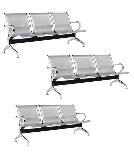 MBTC Three Seater Visitor Waiting chair ( set of 3 )