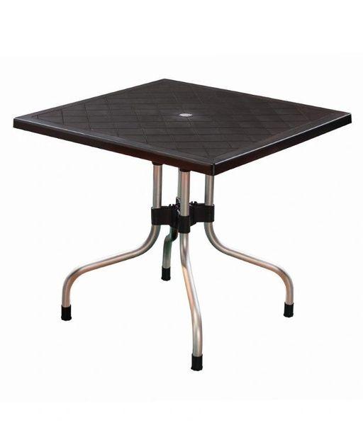 Supreme Olive Foldable Dining Table - Black