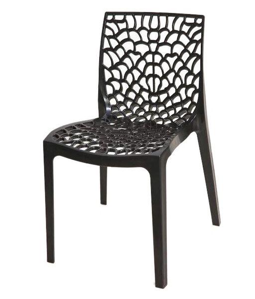 Supreme Web Chair ( Set of 6 pc) Black